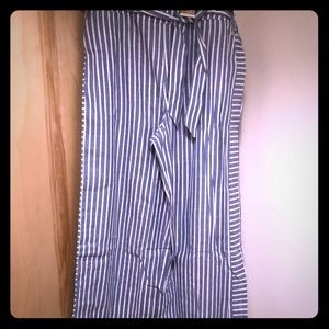 NWT Suzanne Betro cotton/linen blend striped pants